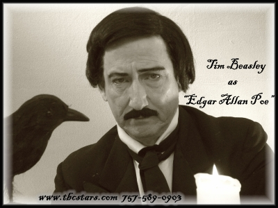 Tim Beasley As Edgar Allan Poe