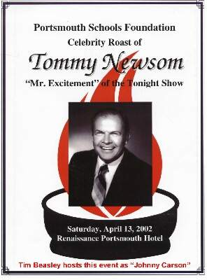 Tommy Newsom Roast Flyer