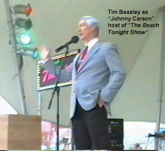 Johnny Carson Impersonator Beach Tonight Show